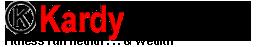 kardy Text Logo red black